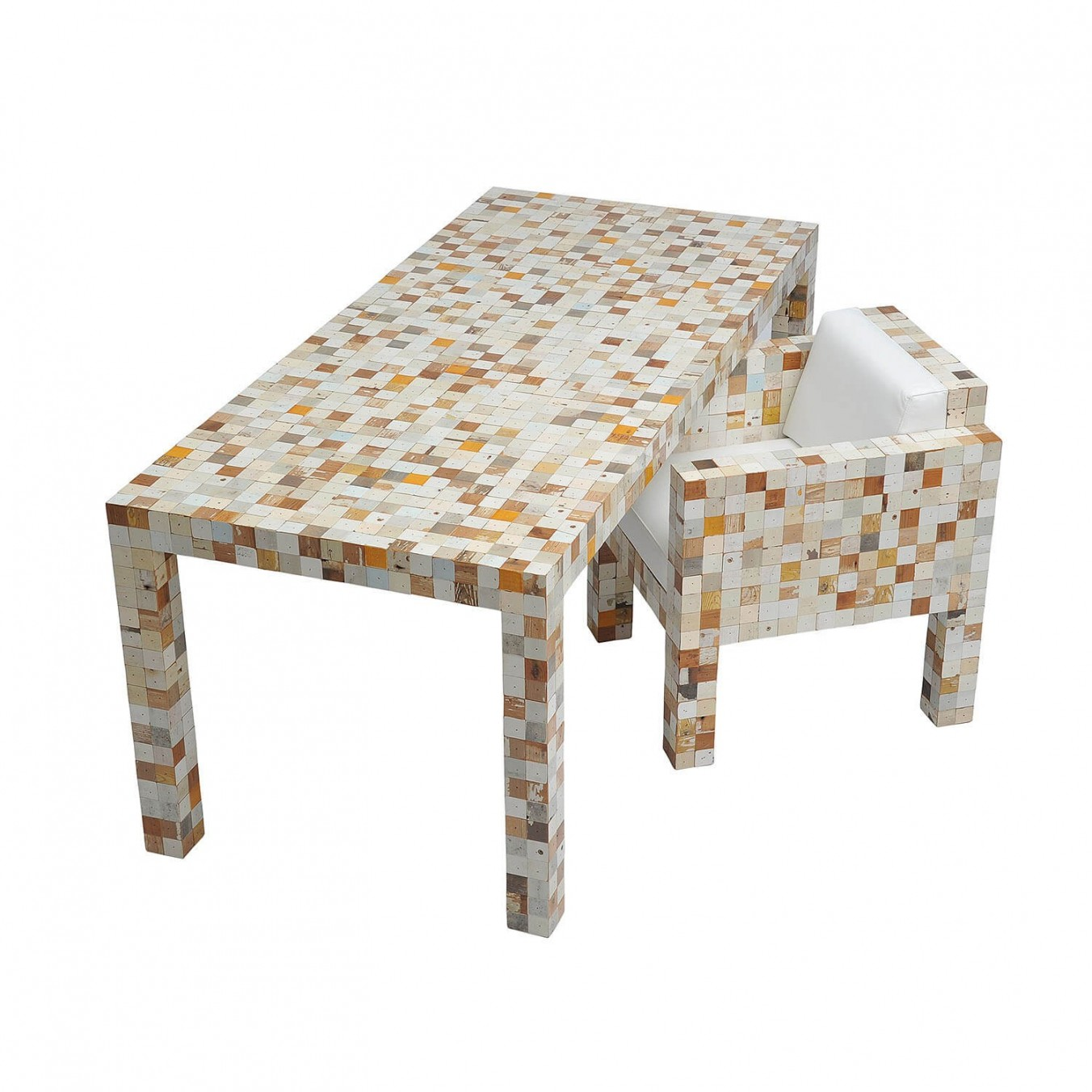 Waste waste table lacquered