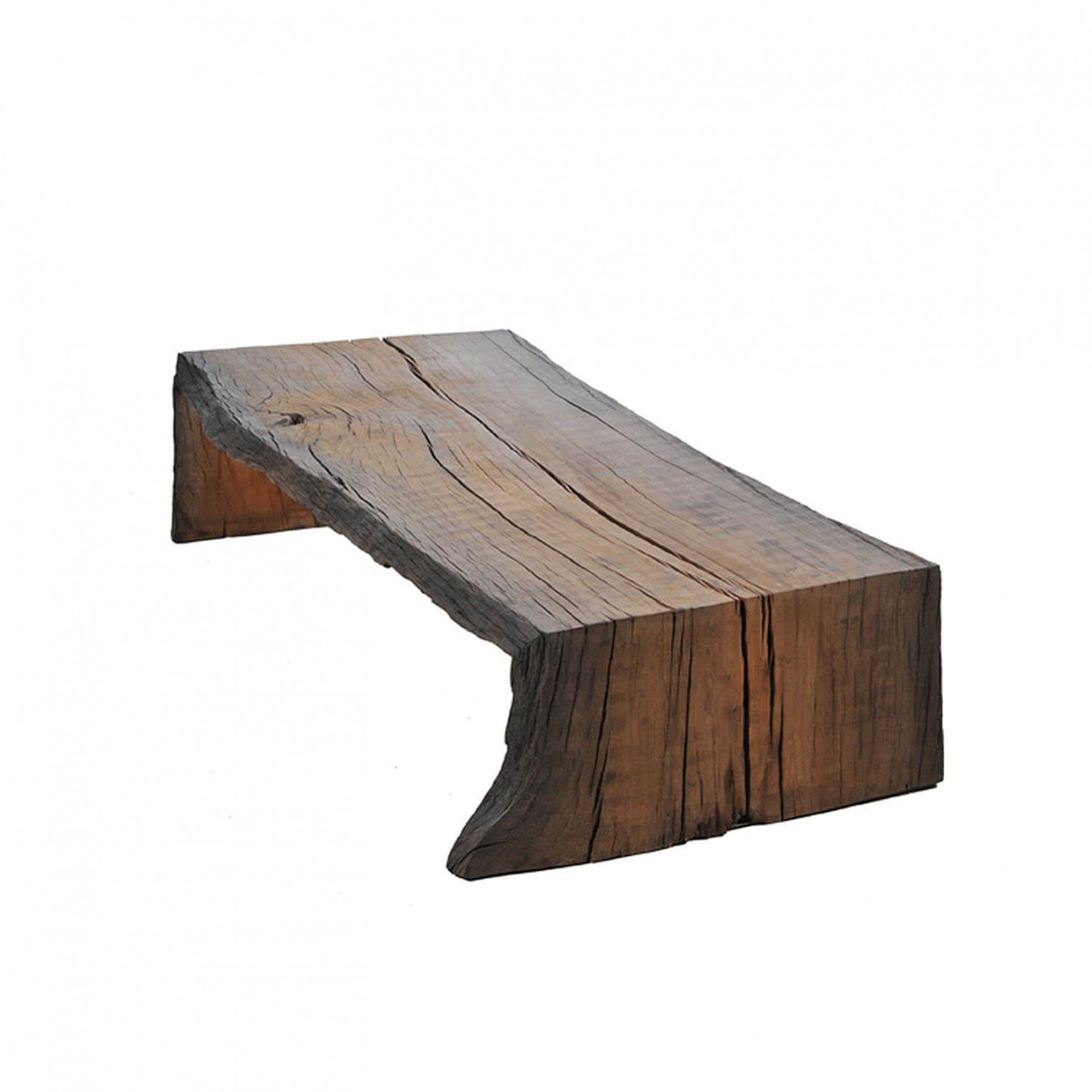 Tree trunk 45 degrees coffee table