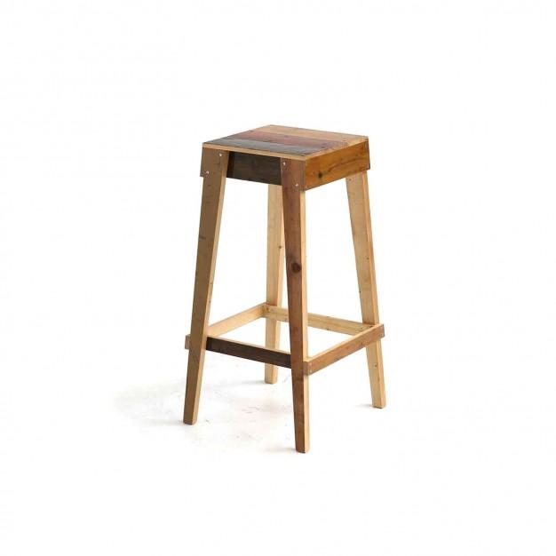 Barstool in scrapwood