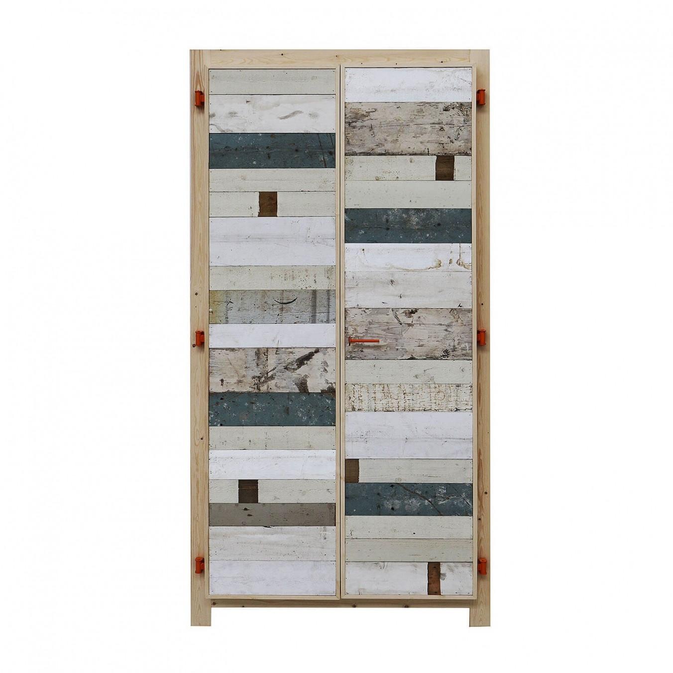 2-doors cabinet in scrapwood