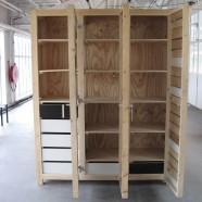 3-doors cupboard in scrapwood