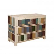 3-drawer cabinet in scrapwood