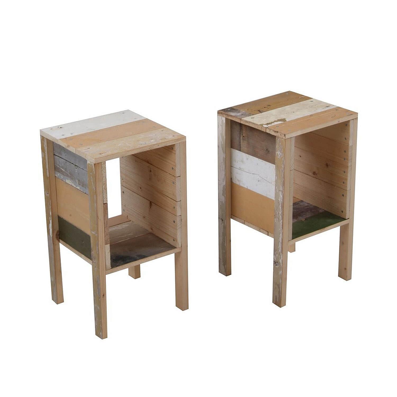 Picture of: Bedside Table In Scrapwood Kooku