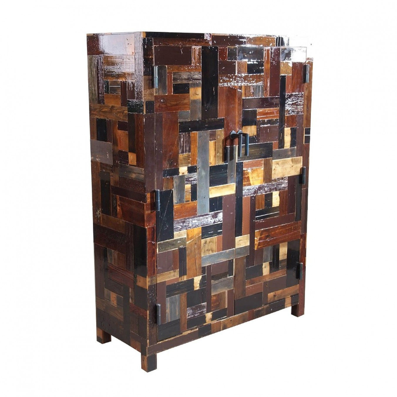 Dark Waste Cabinet in Scrapwood