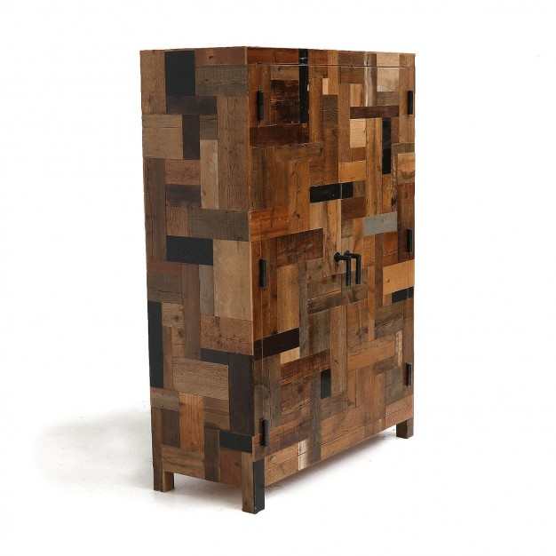 Dark Waste Cabinet in Scrapwood