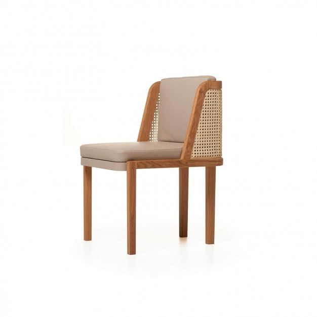 THRONE DINING CHAIR WITH RATTAN