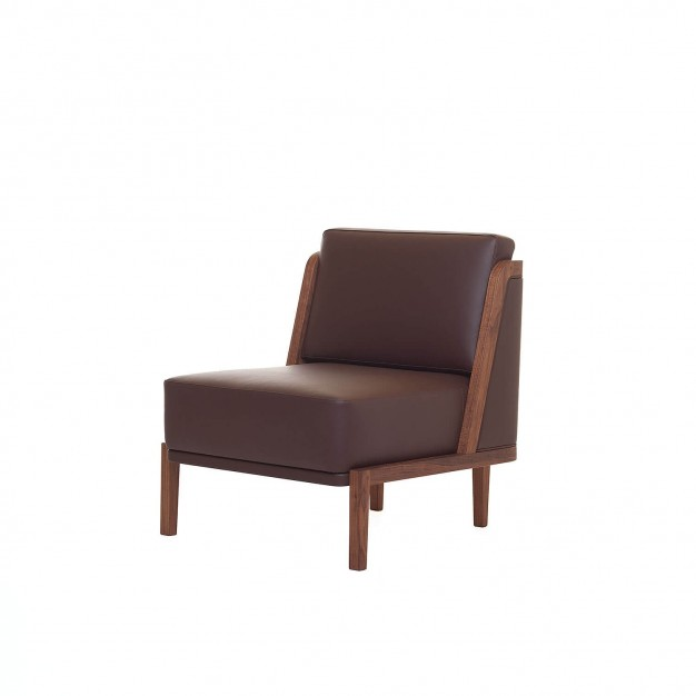 THRONE LOUNGE CHAIR WITH UPHOLSTERY