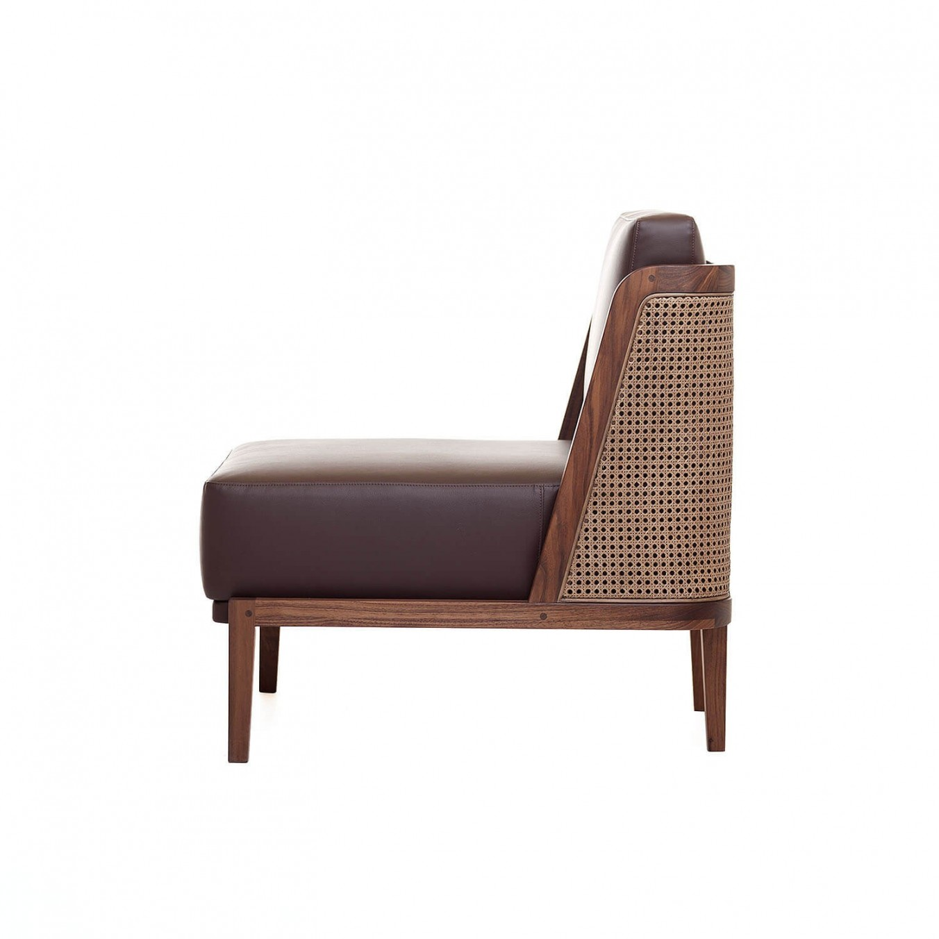 THRONE LOUNGE CHAIR WITH RATTAN
