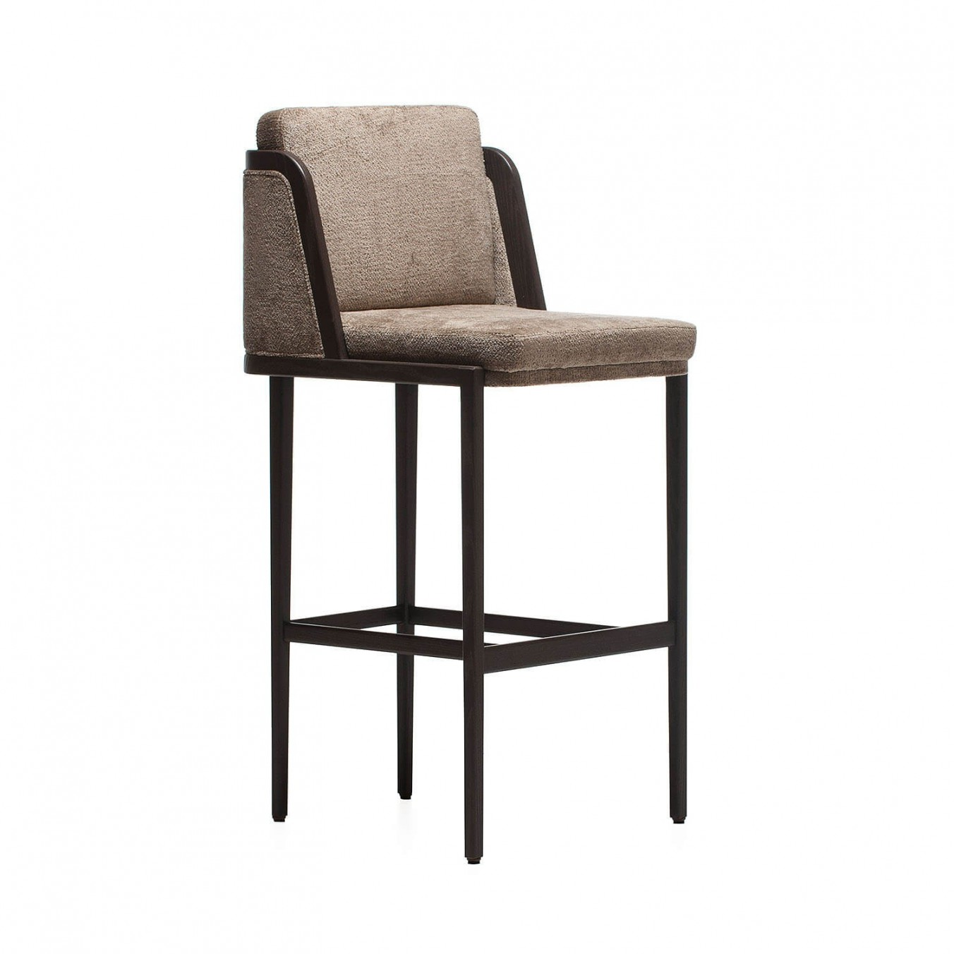 THRONE BARSTOOL WITH UPHOLSTERY