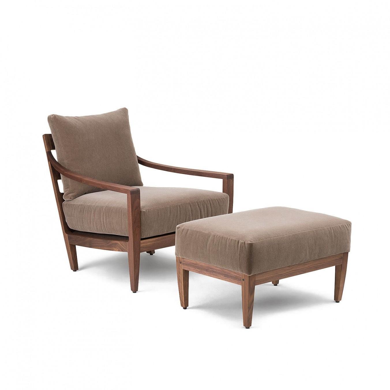 Low Lounge Chair Ottoman Kooku