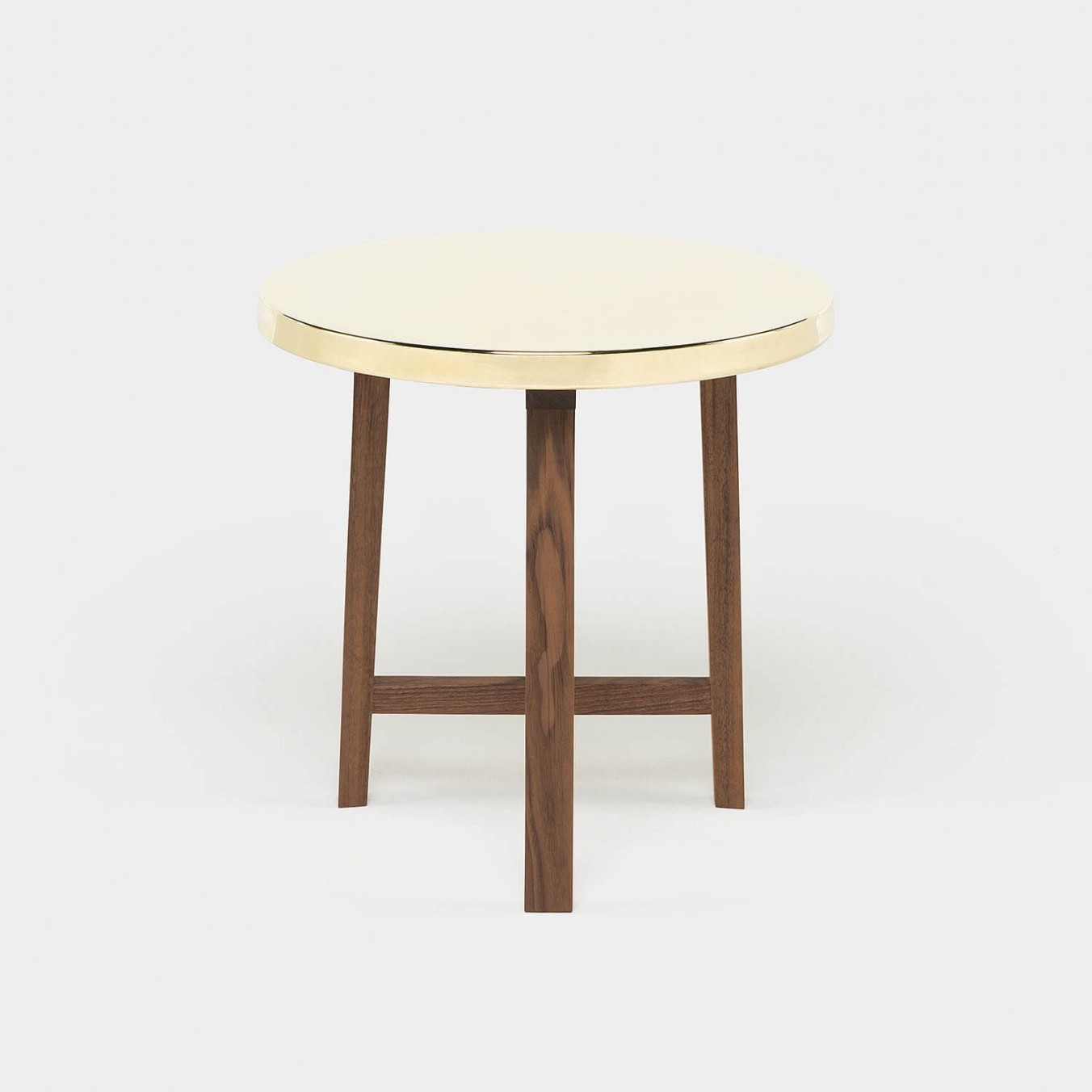 TRIO SIDE TABLE - BRASS TOP