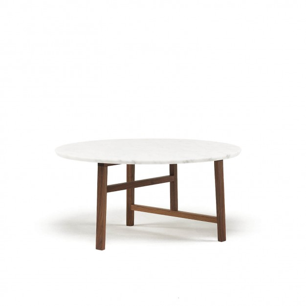 TRIO ROUND COFFEE TABLE - MARBLE TOP