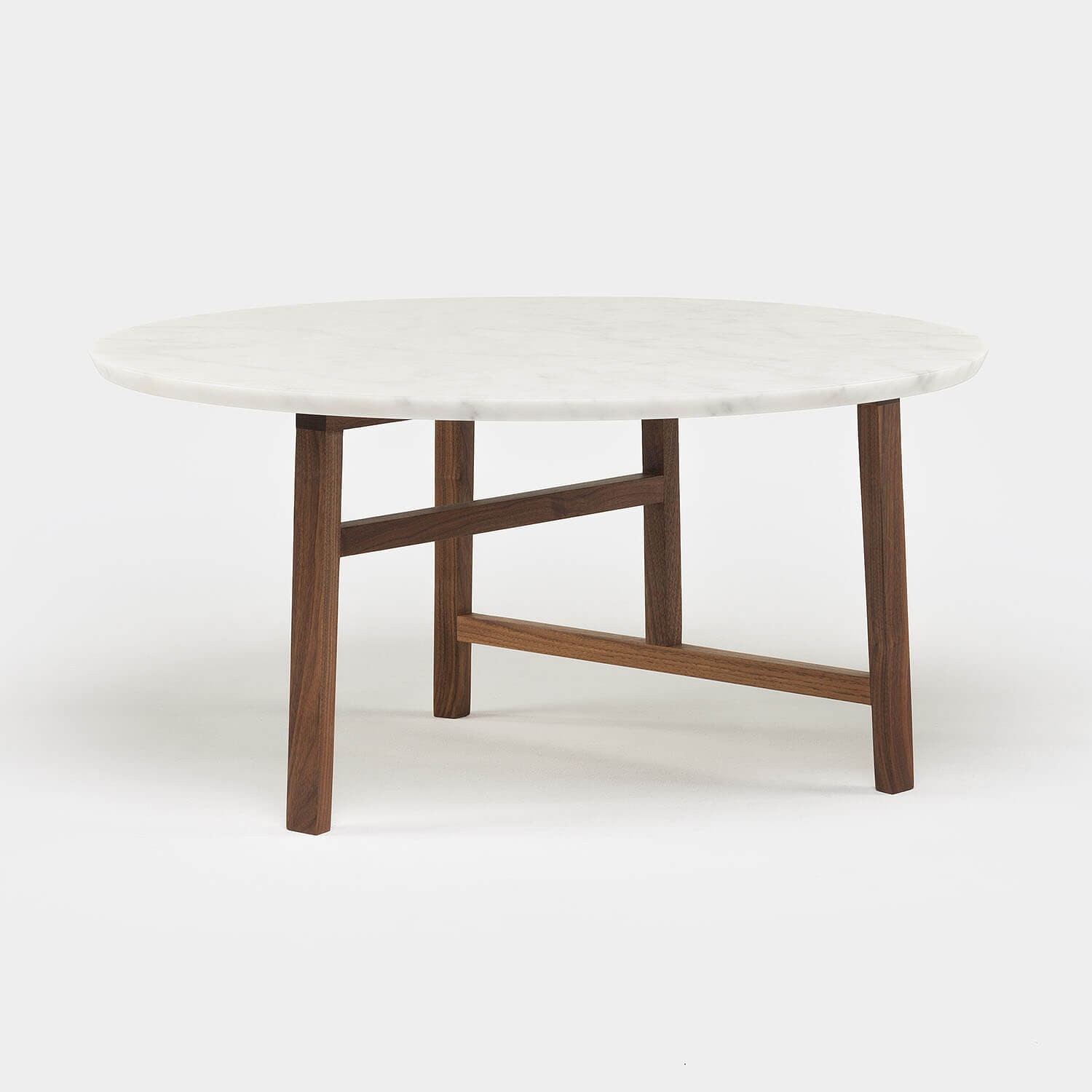 TRIO ROUND COFFEE TABLE   MARBLE TOP