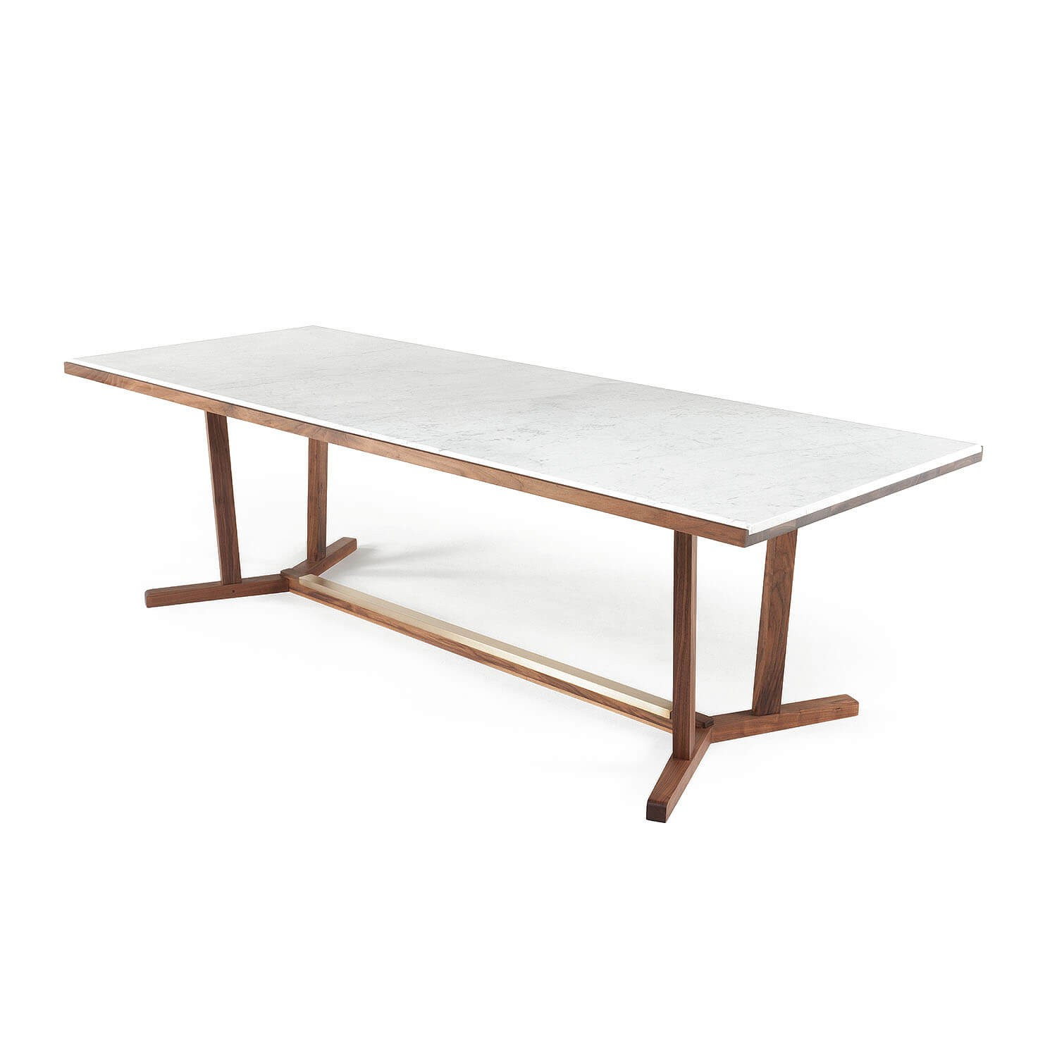 Shaker Dining Table Marble Top Kooku
