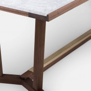 SHAKER DINING TABLE - MARBLE TOP