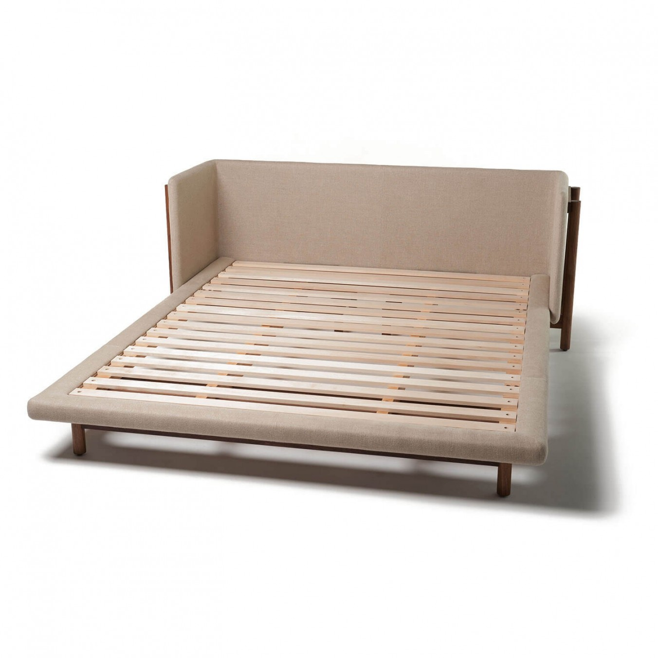 FRAME BED WITH ARMS
