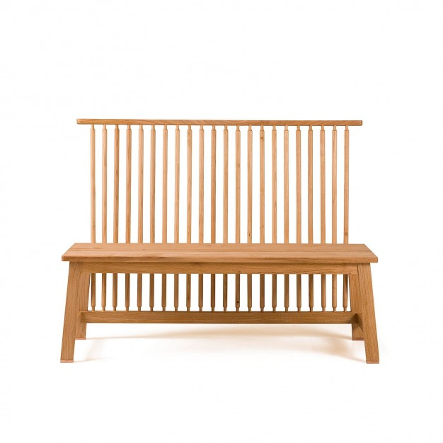 2-SEATER BENCH WITH BACK