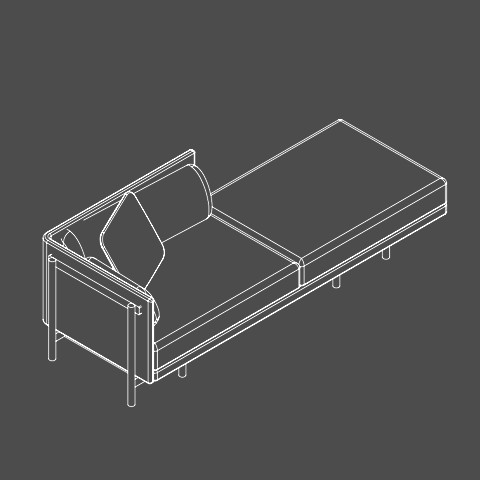 Medium daybed left hand