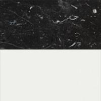 Negro Marquina marble / White