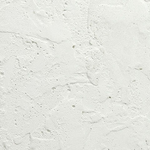 White modeled plaster