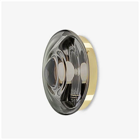 mercury black / polished brass