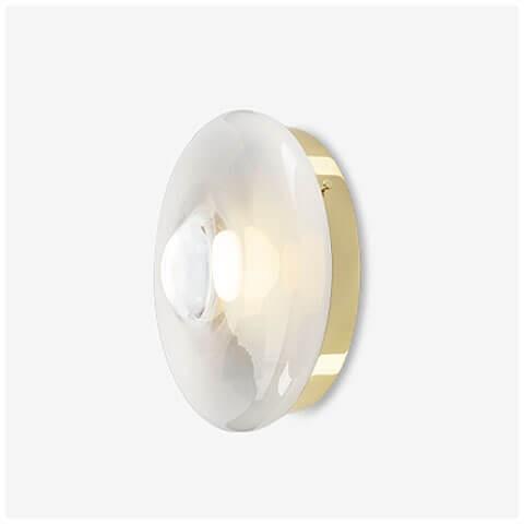 polaris white / polished brass