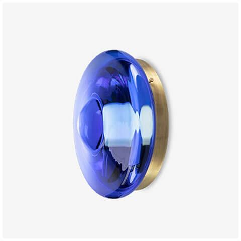neptune blue / light patina brass